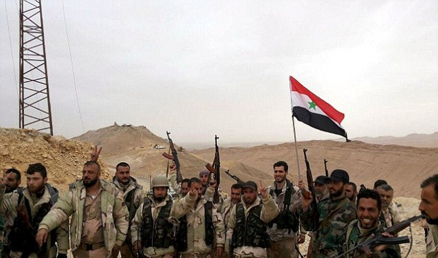 Quân đội Syria mừng chiến thắng tại Palmyra