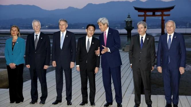 Ngoại trưởng nhóm G7-Hiroshima. Ảnh ngày 10/4