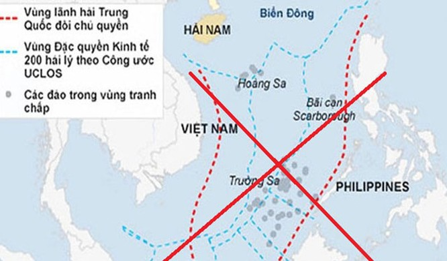 Đường lưỡi bò của Trung Quốc ở Biển Đông bị cả thế giới lên án
