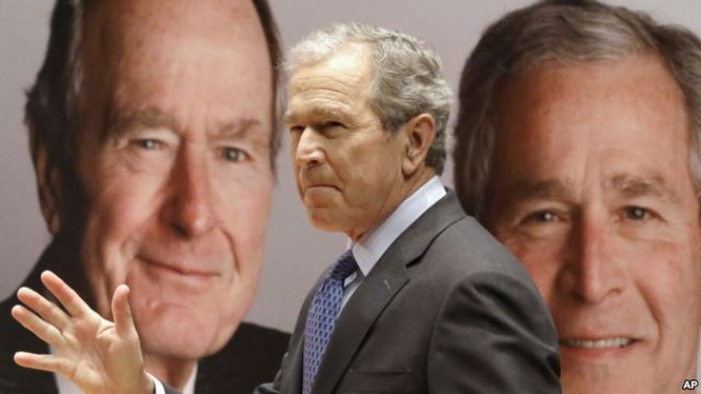 Ứng viên Trump sẽ không nhận được sự ủng hộ của hai cựu tổng thống nhà Bush