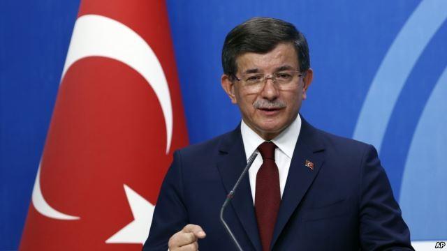 Thủ tướng Thổ Nhĩ Kỳ Ahmet Davutoglu phát biểu tại Ankara ngày 5/5