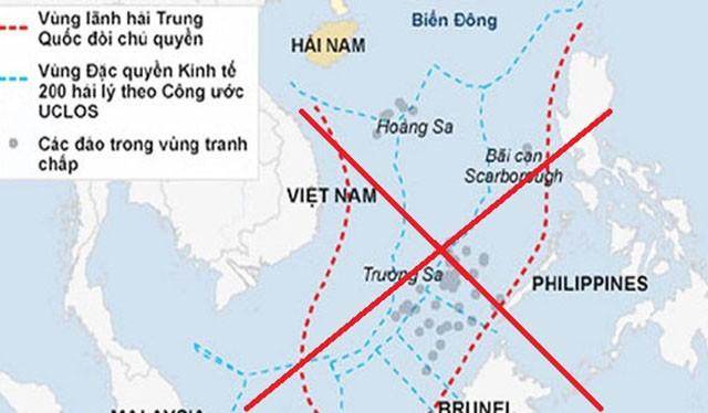 """""""Đường lưỡi bò"""" ngang ngược, bất chấp luật pháp quốc tế của Trung Quốc ở Biển Đông bị thế giới lên án"""