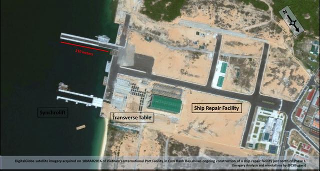 Hình ảnh vệ tinh về Cam Ranh của DigitalGlobe