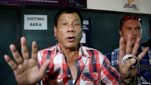 Ông Duerte đắc cử tổng thống Philippines