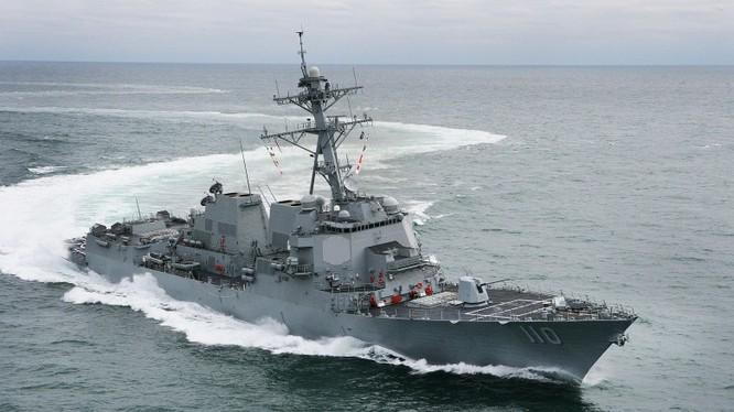 Khu trục hạm USS William P. Lawrence đã vào hoạt động gần Đá Chữ Thập hiện do Trung Quốc kiểm soát.