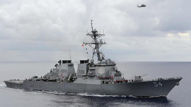 Khu trục hạm Mỹ tuần tra thực thi tự do hàng hải ở Biển Đông