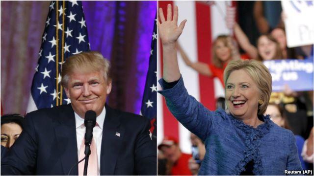 Hai ứng viên tổng thống Mỹ trong cuộc đua vào Nhà Trắng năm 2016
