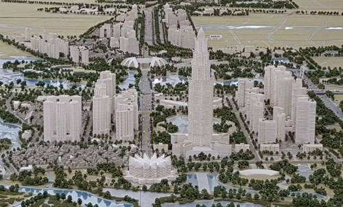 Tháp tài chính thương mại 108 tầng là điểm nhấn kiến trúc trên tuyến đường Nhật Tân - Nội Bài