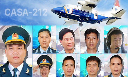Các thành viên tổ bay CASA 8983 hy sinh