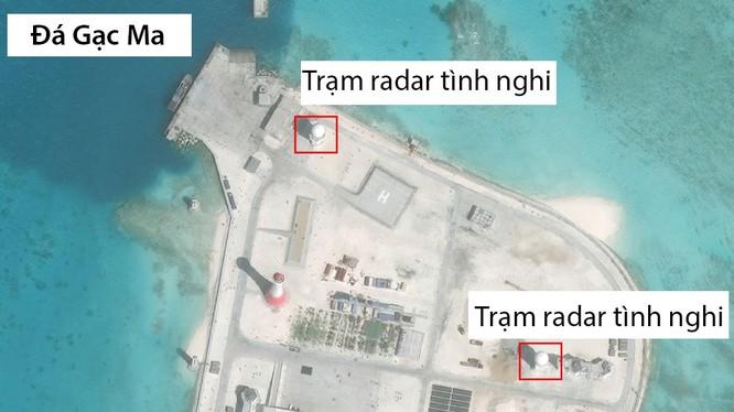 Đá Gạc Ma tại quần đảo Trường Sa đã bị Trung Quốc biến thành đảo nhân tạo phi pháp với các công trình quân sự