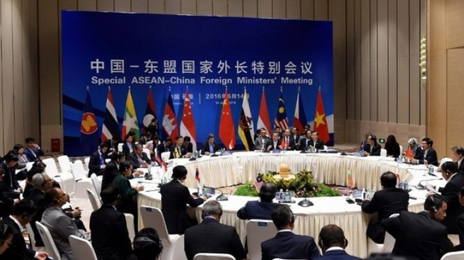 Hội nghị đặc biệt ASEAN-Trung Quốc diễn ra ở Côn Minh, tỉnh Vân Nam. Trung Quốc