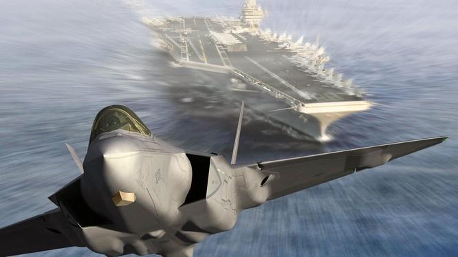 Chiến đấu cơ F-35 phiên bản hải quân cất cánh từ tàu sân bay Mỹ