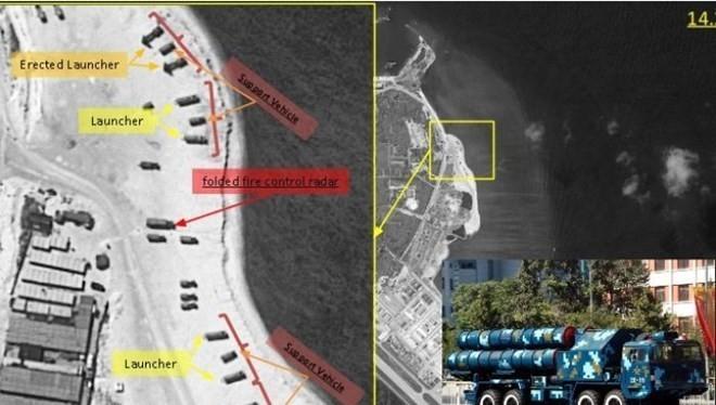 Trung Quốc đã triển khai tên lửa phòng không HQ-9, tên lửa chống hạm và chiến đấu cơ J-11B tới đảo Phú Lâm ở quần đảo Hoàng Sa