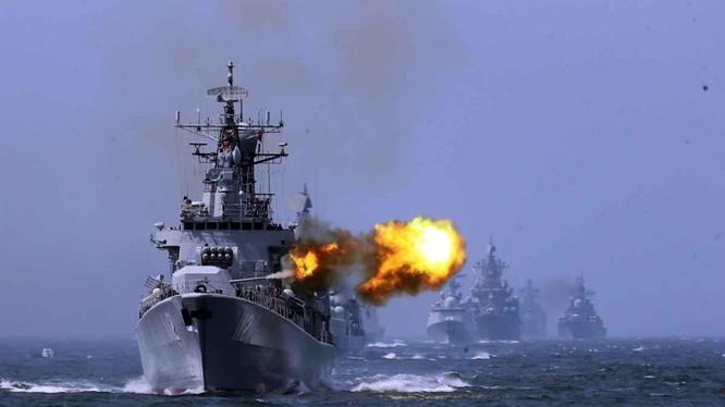 Hải quân Trung-Nga trong cuộc tập trận chung ở biển Hoa Đông