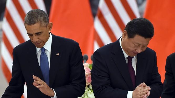 Ông Tập Cận Bình và Tổng thống Mỹ Barack Obama