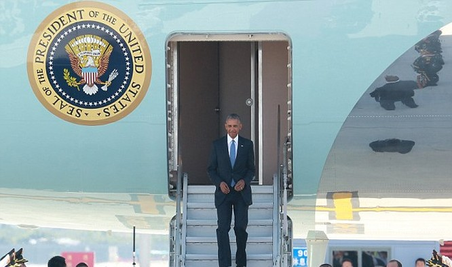 Không có thảm đỏ đón tiếp ông Obama như các nguyên thủ khác khi tới Hàng Châu