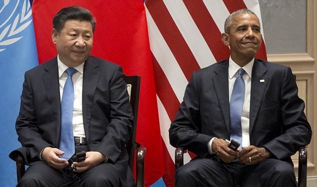 Hai ông Obama và Tập Cận Bình tại Hội nghị G-20 Hàng Châu