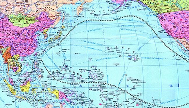 Tấm bản đồ 251 đoạn gần như bao trọn toàn bộ Thái Bình Dương