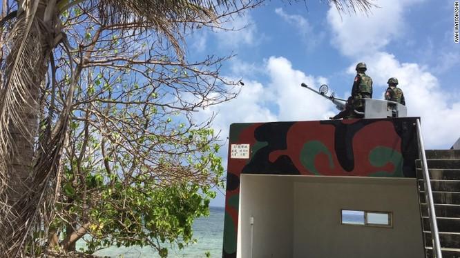 Lính Đài Loan đồn trú trái phép trên đảo Ba Bình