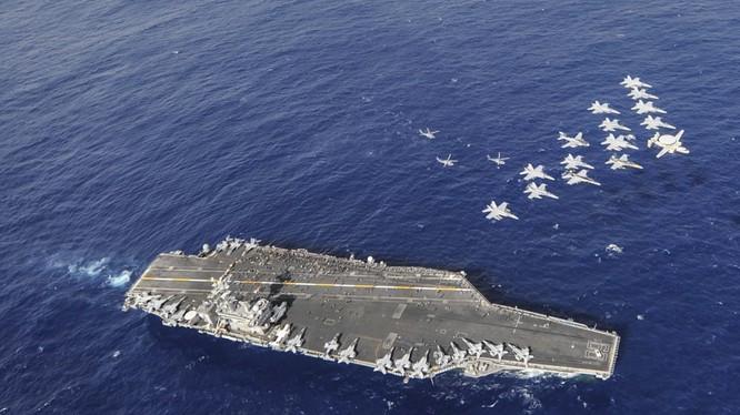 Mỹ có kế hoạch thường trực hai cụm tác chiến tàu sân bay Mỹ ở khu vực châu Á-Thái Bình Dương
