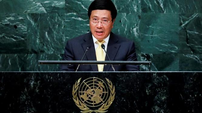 Phó Thủ tướng, Bộ trưởng Ngoại giao Phạm Bình Minh phát biểu tại Đại hội đồng Liên Hợp quốc ngày 24/9