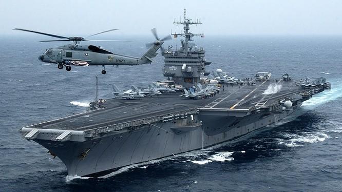 Cụm tác chiến tàu sân bay Mỹ luôn thường trực ở châu Á-Thái Bình Dương
