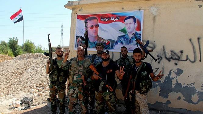 Binh sĩ quân đội Syria trên chiến trường