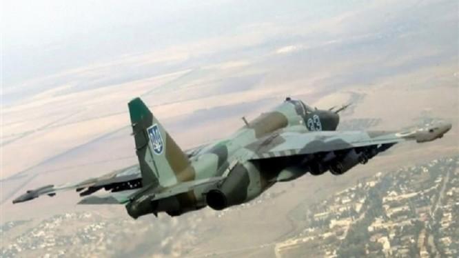 Chiến đấu cơ Su-25 của Ukraine.