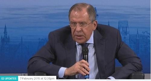Ngoại trưởng Nga Sergei Lavrov. Ảnh: Itv