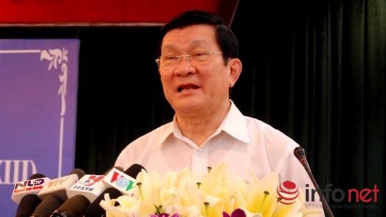Chủ tịch nước Trương Tấn Sang.