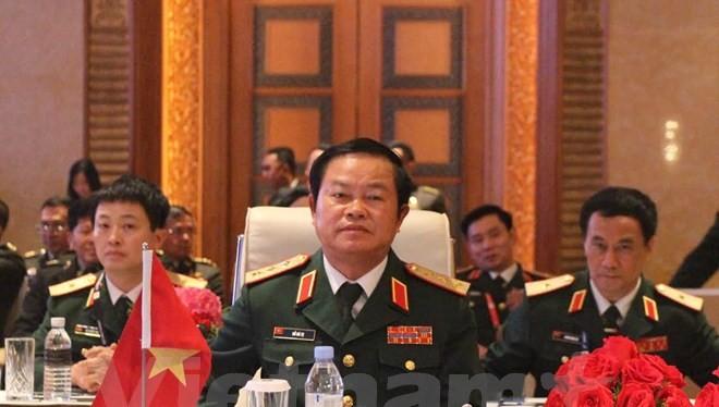 Thượng tướng Đỗ Bá Tỵ, Tổng Tham mưu trưởng Quân đội Nhân dân Việt Nam tại ACDFIM-12. (Ảnh: Dung-Giáp/Vietnam+)