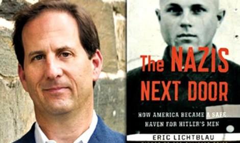 """Nhà báo Eric Lichtblau và cuốn sách """"The Nazis next door""""."""