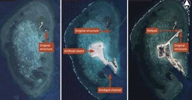 Các ảnh chụp Đá Gaven từ vệ tinh của Airbus Defence and Space. Ảnh nguồn CNES 2014/Distribution Airbus DS/IHS