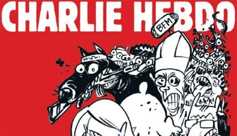 Ảnh bìa ấn phẩm số ra ngày 25/2 của tạp chí Charlie Hebdo (Ảnh: Charlie Hebdo)
