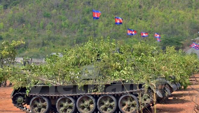 Xe tăng của quân đội Hoàng gia Campuchia. (Nguồn: Xuân Khu/Vietnam+)