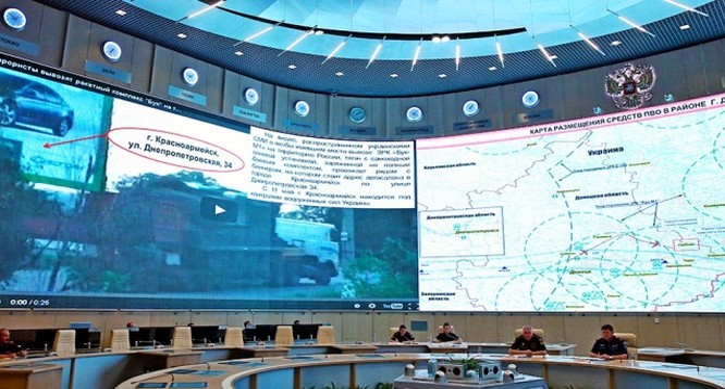 Theo dõi tình hình Ukraine tại trung tâm chỉ huy phòng thủ quốc gia Nga