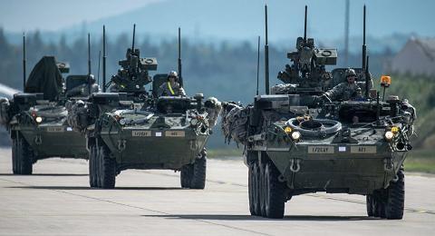 Đoàn xe quân sự của Mỹ