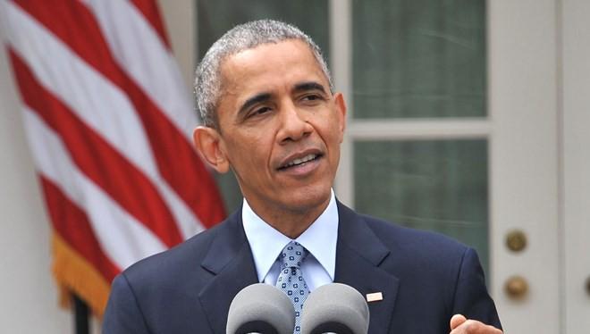 Tổng thống Mỹ Barack Obama phát biểu về thỏa thuận khung đạt được giữa nhóm P5+1 và Iran. (Nguồn: AFP)