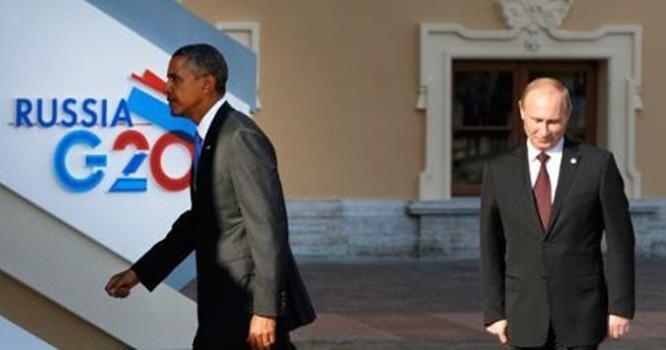 Tổng thống Nga Putin (phải) và Tổng thống Mỹ Obama. Ảnh Sputnik
