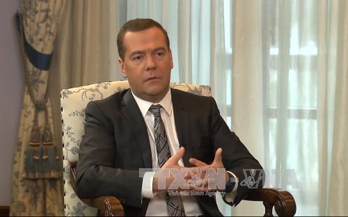 Thủ tướng Medvedev. Ảnh: TTXVN