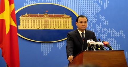 Người phát ngôn của Bộ Ngoại giao Việt Nam - Lê Hải Bình. Ảnh: Đan Khanh