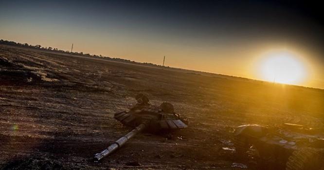 Một góc Ukraine đã hoang tàn vì chiến tranh. Ảnh Sputnik/ Valeriy Melnikov