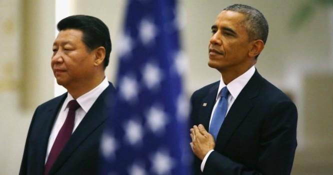 Chủ tịch Trung Quốc Tập Cận Bình và Tổng thống Mỹ Barack Obama. Ảnh: Reuters