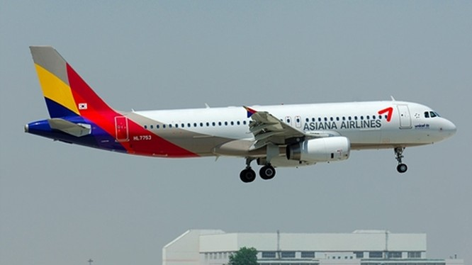 Một phi cơ Airbus A320 của Asiana Airlines. Ảnh: Plane Spotter.