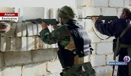 Quân đội Syria chiến đấu tại Daraa.