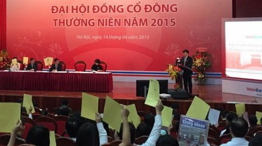 Đại hội cổ đông Vietinbank ngày 14-4 vừa qua cũng thông qua việc sáp nhập ngân hàng này với PGBank - Ảnh Lê Thanh