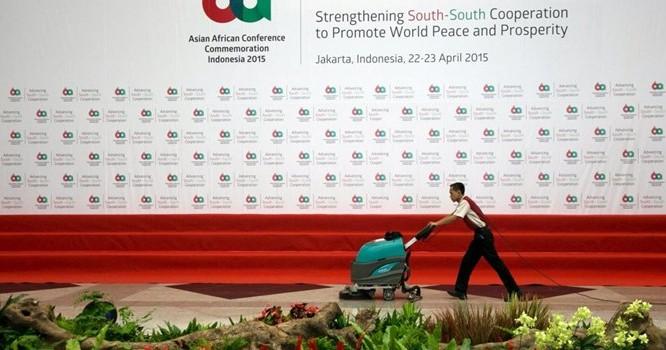 Logo Thượng Đỉnh Á -Phi 2015. Ảnh Reuters