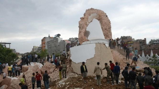 Choáng váng số người chết trong trận động đất ở Nepal