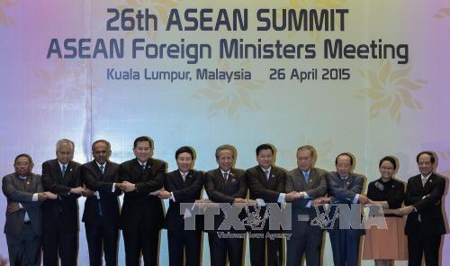 Ngoại trưởng các nước thành viên ASEAN tại hội nghị. Ảnh: AFP/TTXVN
