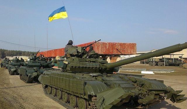 Xe tăng chiếnđấu chủ lựcT-64B của quânđội chính phủ Ukraine.